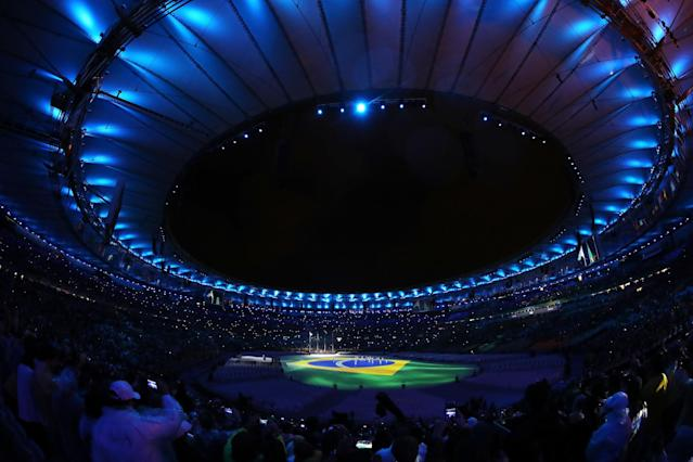 <p>Children sing the national anthem of Brazil during the Closing Ceremony on Day 16 of the Rio 2016 Olympic Games at Maracana Stadium on August 21, 2016 in Rio de Janeiro, Brazil. (Photo by Alexander Hassenstein/Getty Images) </p>