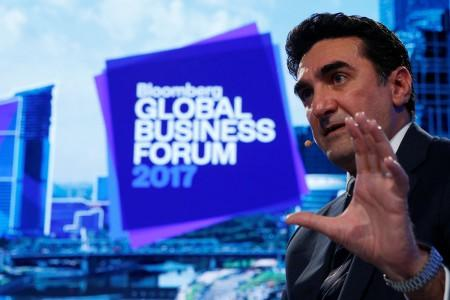 Saudi Arabia's Public Investment Fund managing director Yasir al-Rumayyan speaks at the Bloomberg Global Business Forum in New York