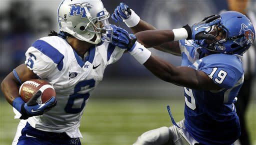 Middle Tennessee outshines Memphis 48-30