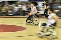<p>Largely considered to be the greatest wheelchair basketball player that has ever played the game, Anderson already has three Paralympic gold medals to his name (he won his first one at Sydney 2000). </p><p>However, having reached 40-years-old this is (probably) his last chance to make it four. It's also the last time we'll (again, probably) get to see him effortlessly glide up and down the court scoring with the ease only a true great can. </p>