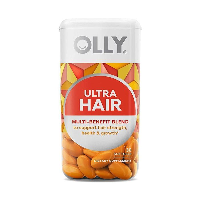 """<p><strong>Olly</strong></p><p>target.com</p><p><strong>$19.99</strong></p><p><a href=""""https://www.target.com/p/-/A-78296938"""" rel=""""nofollow noopener"""" target=""""_blank"""" data-ylk=""""slk:Shop Now"""" class=""""link rapid-noclick-resp"""">Shop Now</a></p><p>A tablet a day keeps the bad hair at bay. This supplement is packed with all the essentials—biotin, keratin, and folic acid—but gets bonus points for the hint of strawberry flavor and scent. </p>"""