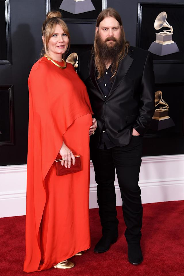 Morgane and Chris Stapleton attend the 60th Annual Grammy Awards on Jan. 28, 2018, in New York City. (Photo by Dimitrios Kambouris/Getty Images for NARAS)