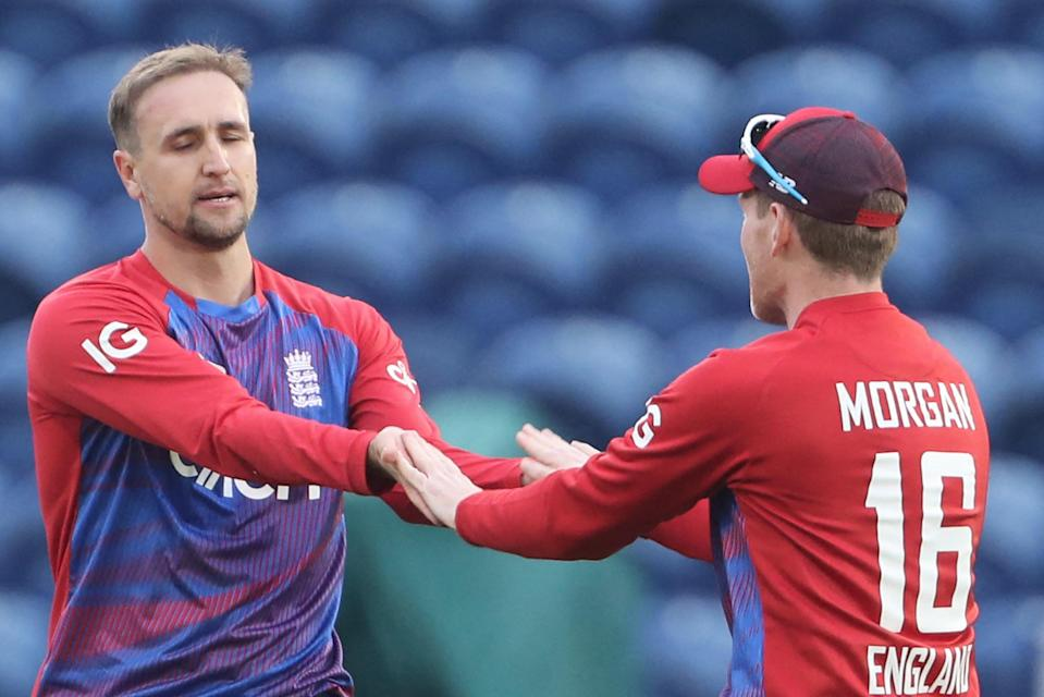 England captain Eoin Morgan will want to assess Liam Livingstone's batting against Sri Lanka (AFP via Getty Images)