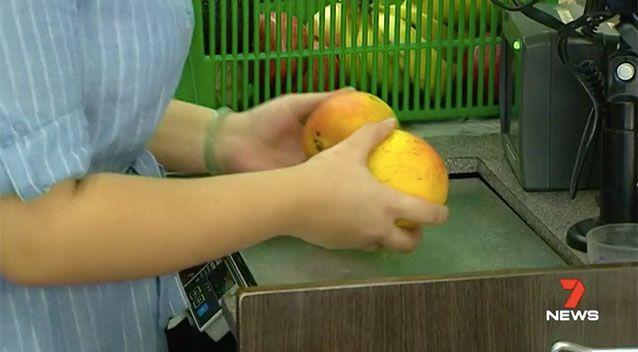 Customers will no longer be able to pretend a mango is an onion. Source: 7 News