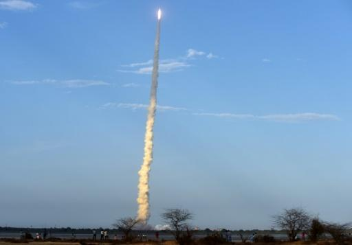 India shows off space prowess with launch of mega-rocket