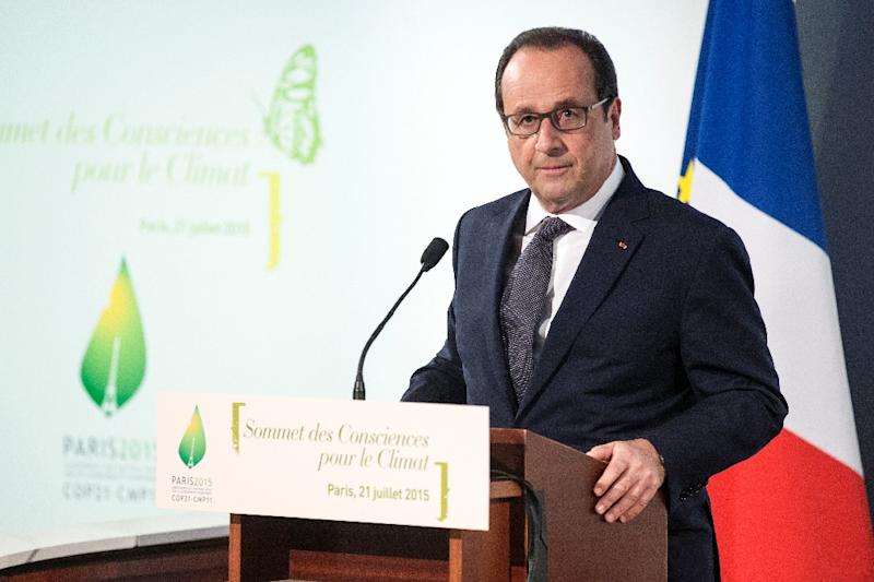 Slashing the use of nuclear energy was a key campaign promise of President Francois Hollande ahead of the 2012 election (AFP Photo/Etienne Laurent)