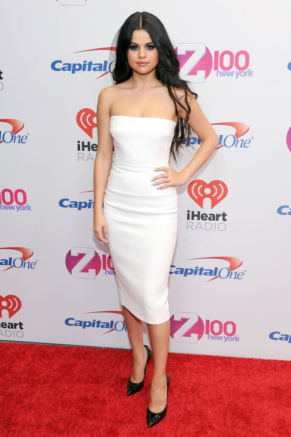 <p>Wearing Victoria Beckham at Jingle Ball 2015 in New York City. </p>