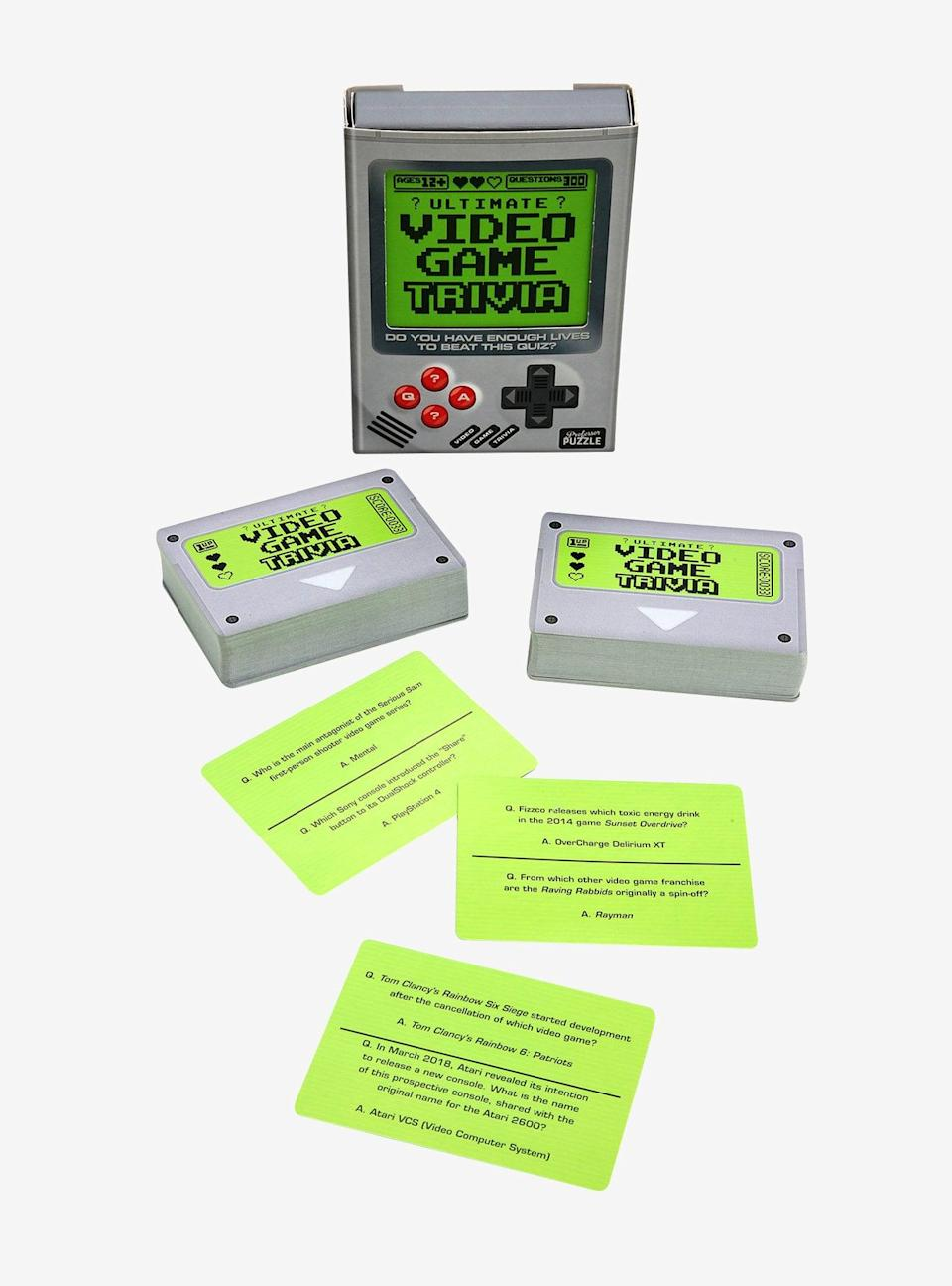 <p>Gamers will be obsessed with this <span>Video Game Trivia</span> ($13).</p>