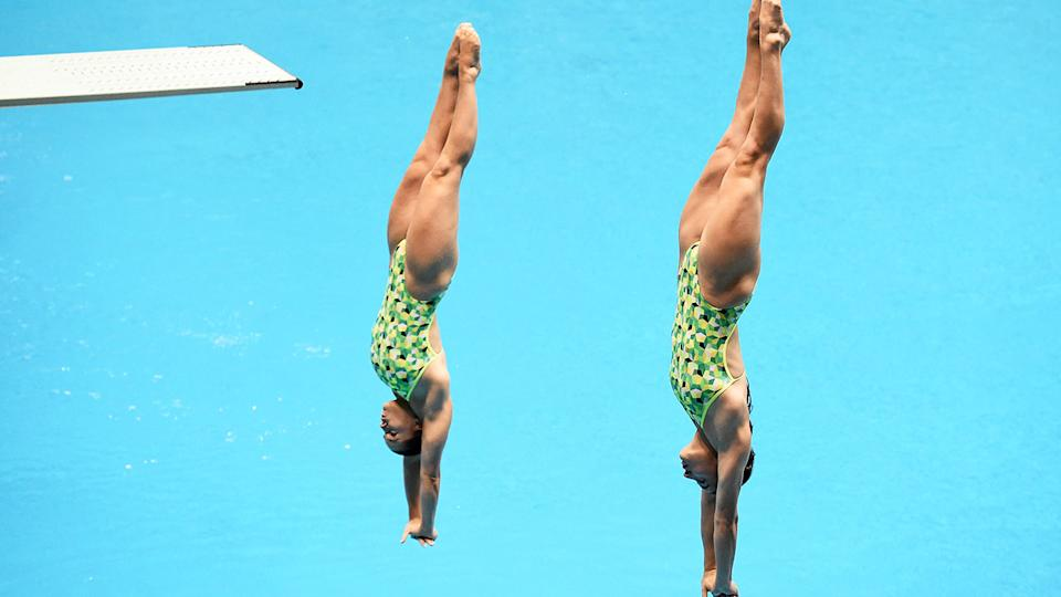 Maddison Keeney and Anabelle Smith, pictured here in action at the FINA Diving World Cup in 2019.