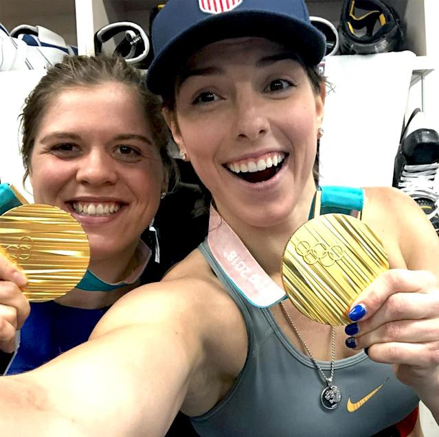 <p>hilaryknight: Is this real life? Lmk. #TeamUsA #Olympics #Gold (Photo via Instagram/hilaryknight) </p>