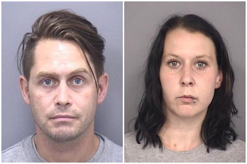 Aaron Brown, left, and Hannah Day, right, have been sentenced for John Cornish's manslaughter. (Dorset Police)