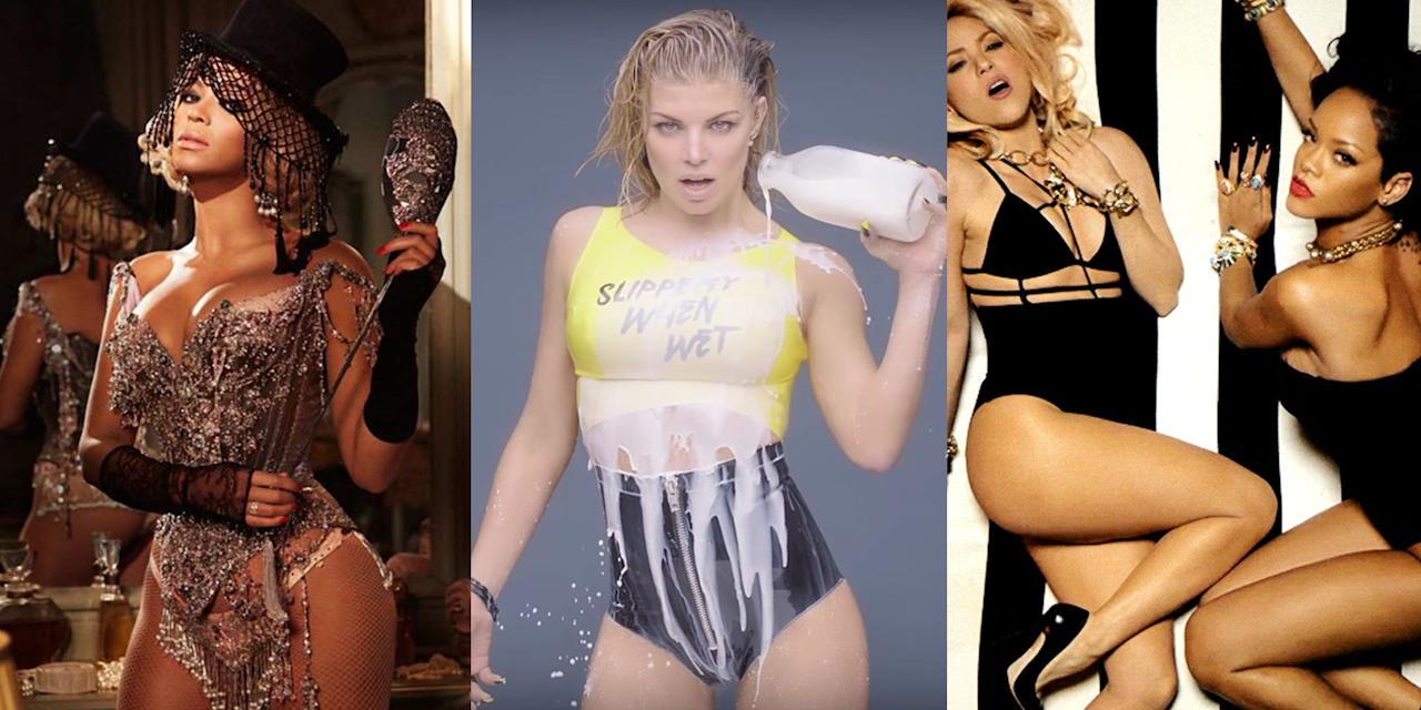 <p>You'd think the purpose of a music video would be to add another layer of meaning to the sound and lyrics. But sometimes, the point is to have a bunch of celebrities pour suspiciously watery milk on their spandex-bound bodies, because that is...provocative. Here, 18 of the sexiest, steamiest visuals to ever appear on TRL (what a time you were, late '90s, what a time) or, now, YouTube.</p>