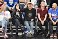 Billy Crystal and Janice Crystal attend an NBA playoffs basketball game between the Los Angeles Clippers and the Golden State Warriors at Staples Center on April 18, 2019 in Los Angeles, California. (Photo by Allen Berezovsky/Getty Images)