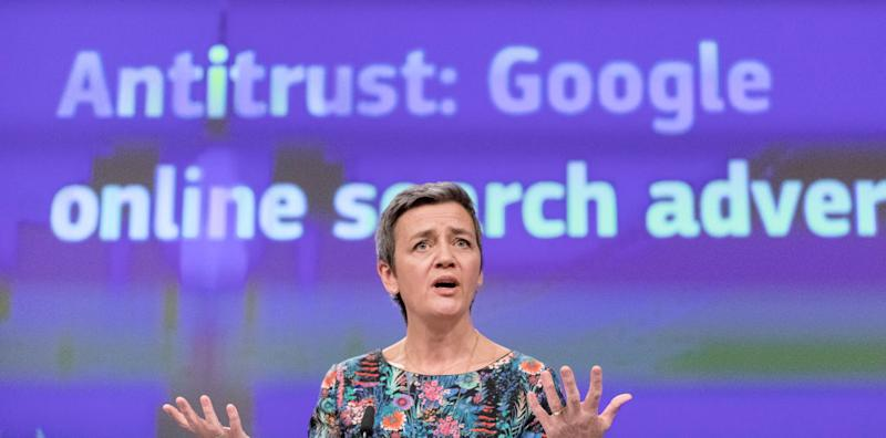 l commissario per la Concorrenza europea, Margrethe Vestager (Photo by Thierry Monasse/Getty Images)