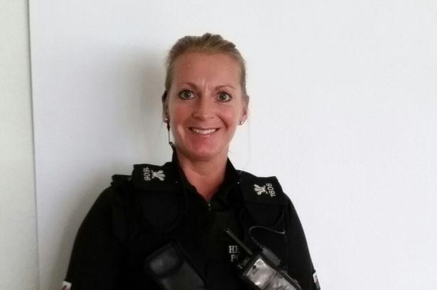 PC Andrea Griffiths, 44, was set to be sacked for gross misconduct (Picture: Wales News)