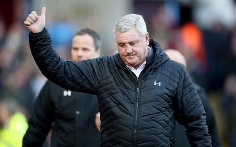 "Driven by a fervent atmosphere in a packed stadium, Villa extended their hot streak to seven straight Championship wins to maintain their dominance over their Second City rivals and move into an automatic promotion place for the first time under Steve Bruce, whose emotions bubbled over on the touchline after a tough few days off the field. The 57-year-old Villa manager had until Saturday been on compassionate leave following the death of his father last Tuesday, the pain of that experience compounded by fears for his mother, who has herself been battling serious illness. Villa, loaded with experience, were the better side and goals by Albert Adomah and Conor Hourihane in the second half made for an appropriate scoreline. Bruce stood in his own space on the edge of the technical area throughout, as if striving for privacy amid the hullabaloo. After initially celebrating the opening goal, he turned away and his face visibly creased. ""He is a hard-working, experienced manager and he controlled everything terrifically well,"" his assistant, Colin Calderwood, said. ""But he is a very family-orientated man and when you have that joy of the moment as a professional it seems to bring a reflection on your personal circumstances at the same time. ""It has been a tough week for him but he picked the team and spoke to the players in the way he always does before the game and this win will be a shaft of light, a moment of happiness for him."" Bruce had been on compassionate leave this week following the death of his father Credit: pa Birmingham, who have looked lately like a team capable of finishing the season out of danger after a poor start, put up some fight and had Cheikh Ndoye sent off in stoppage time for a second yellow card. They should have sneaked a half-time lead, striker Sam Gallagher hitting the woodwork and then lofting the rebound over the bar after a stumble by John Terry left him clean through. But overall, Villa made the better chances. Scott Hogan hit the bar in the first half and there were other close calls before the in-form Adomah, given time to set himself and shoot in low off a post, gave Villa the lead on the hour with his 14th goal of the season. Jack Grealish, excellent throughout in the No10 role, supplied the pass. Captain John Terry celebrates the win Credit: Getty images Nine minutes from time, after chesting down a poor headed clearance by Harlee Dean, Hourihane hit a dipping left-foot volley over the head of David Stockdale to ensure the points were won and extend their unbeaten sequence in Second City league derbies to 12 matches, including eight wins. ""I think the difference was quality, experience and belief,"" the Birmingham manager, Steve Cotterill, said. ""Villa had more of all of those."""