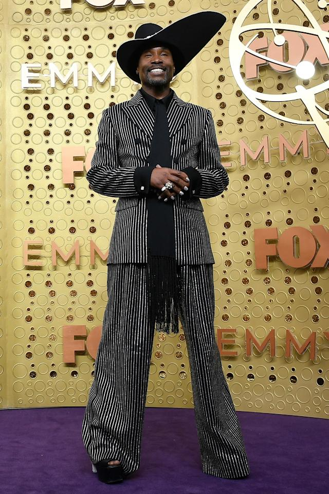 """<a href=""""http://ew.com/tag/billy-porter/"""">Billy Porter</a> got emotional on the red carpet while discussing his role as Pray Tell on <em>Pose</em>. """"It is the role of a lifetime thus far,"""" he told E!. """"I'm grateful that I lived to see the day where I can stand inside my authenticity and be who I am and have people receive it this way. It's gorgeous and it's a gift — and it's a blessing."""""""