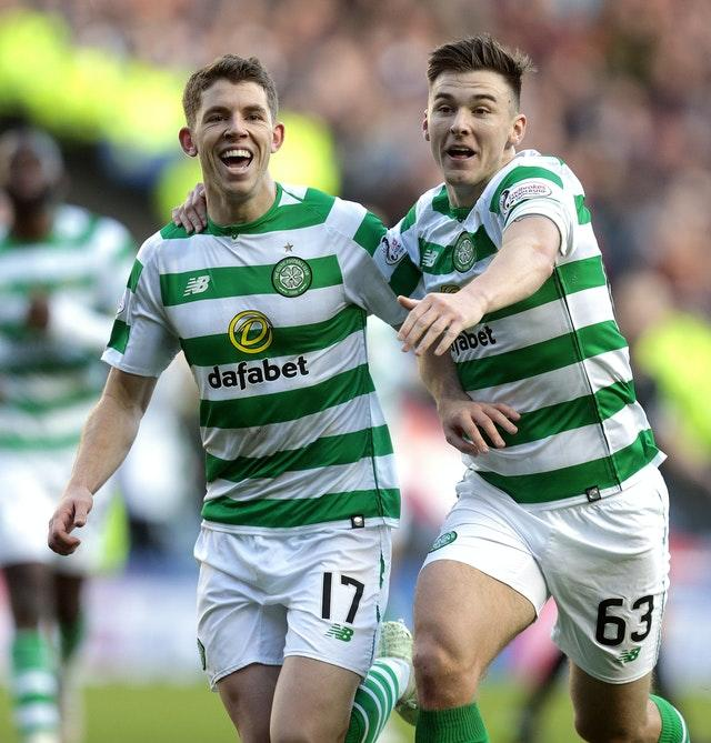 Ryan Christie (left) and Kieran Tierney have been told to self-isolate