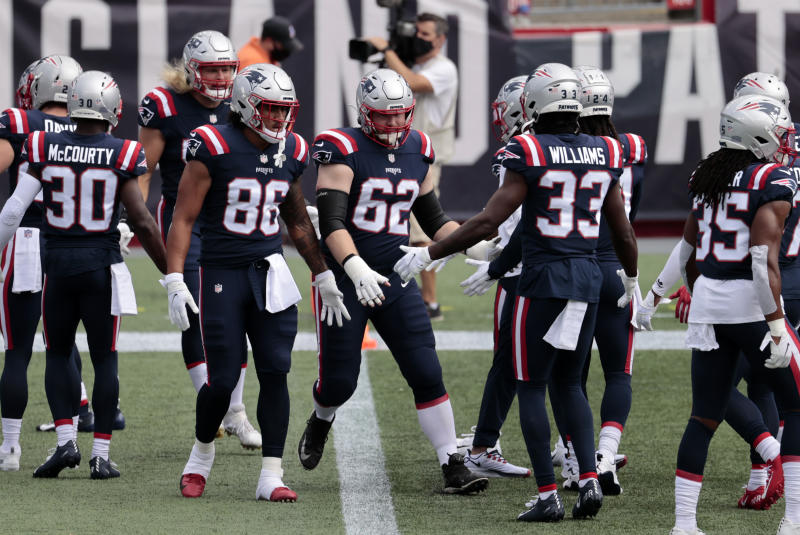 The Patriots had no positive COVID-19 tests on Monday. (Photo by Fred Kfoury III/Icon Sportswire via Getty Images)