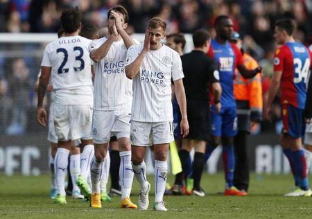 Leicester City's Marc Albrighton after the game