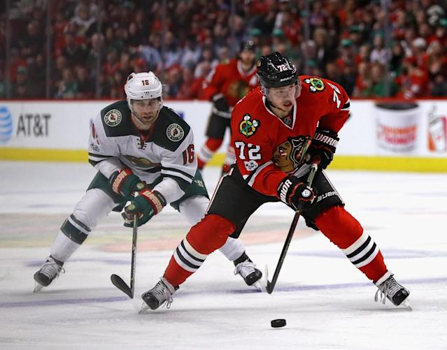 "How will <a class=""link rapid-noclick-resp"" href=""/nhl/players/6728/"" data-ylk=""slk:Artemi Panarin"">Artemi Panarin</a> fare without the cast he played with in Chicago? (Photo by Jonathan Daniel/Getty Images)"