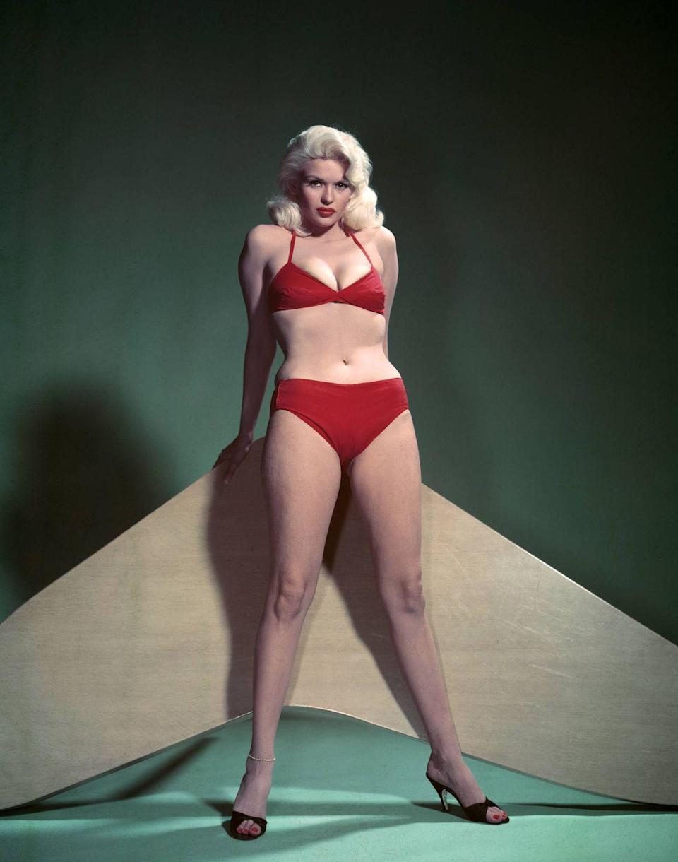 """<p>Mansfield landed the cover of the newly launched <em>Playboy </em>magazine in 1954. Her provocative pose ended up garnering her a lot of attention and earned her the spot of """"Playmate of the Month"""" in 1955. </p>"""