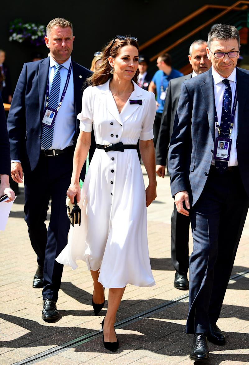The Duchess of Cambridge attends on day two of the Wimbledon Championships 2019 (PA Wire/PA Images)