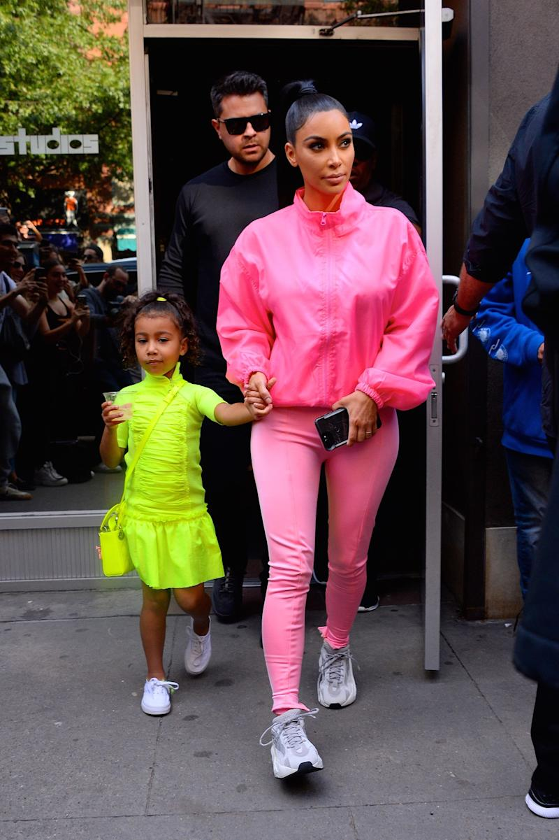 Kim Kardashian and North West in the street in NYC