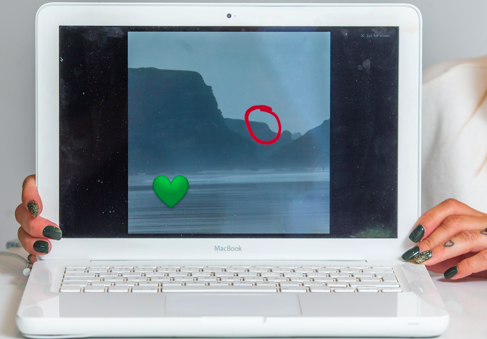 The photo was taken from a long distance and shows Bethany Eagle circled on the cliffs. (SWNS)