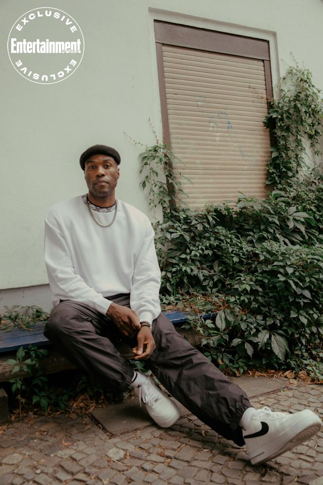 """<p>Watch this man — as if you needed a reminder — because it's <em>Emmy-winner</em> <a href=""""https://ew.com/movies/candyman-bad-hair-antebellum-american-horror-stories/"""">Yahya Abdul-Mateen II</a> now.</p> <p>On Sunday, the 34-year-old architect-turned-actor just won <a href=""""https://ew.com/emmys/emmys-2020-best-speeches/?slide=577fd998-6dd7-4d1b-b516-a73fc7c8ef78#577fd998-6dd7-4d1b-b516-a73fc7c8ef78"""">Outstanding Supporting Actor in a Limited Series</a> — his first major awards victory — for his achingly human portrayal of the godlike Dr. Manhattan on HBO's <em>Watchmen</em>. But the<a href=""""https://ew.com/creative-work/aquaman/""""><em>Aquaman</em></a> star is just getting started. This fall, he holds court as Black Panther cofounder Bobby Seale in <a href=""""https://ew.com/movies/trial-of-chicago-7-trailer/"""">Aaron Sorkin</a>'s<em>The Trial of the Chicago 7 </em>(Netflix, Oct. 16), and he will ascend to leading man status in Nia DaCosta's<a href=""""https://ew.com/creative-work/candyman-2020-movie/""""><em>Candyman</em></a> reboot when it hits theatres in 2021.</p> <p>A month before his exciting Emmy victory, EW <a href=""""https://ew.com/movies/yahya-abdul-mateen-candyman-chicago-7/"""">spoke to the thoughtful Oakland native about his dynamic career so far</a> and had a photoshoot with him in Berlin, German, where he's currently shooting <em>Matrix 4.</em>Check out the images from the shoot.</p>"""