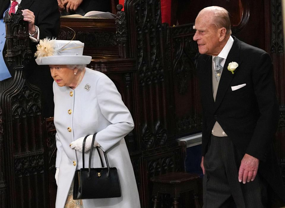 The Queen and Prince Philip pictured at Princess Eugenie's wedding in October 2018 [Photo: Getty]