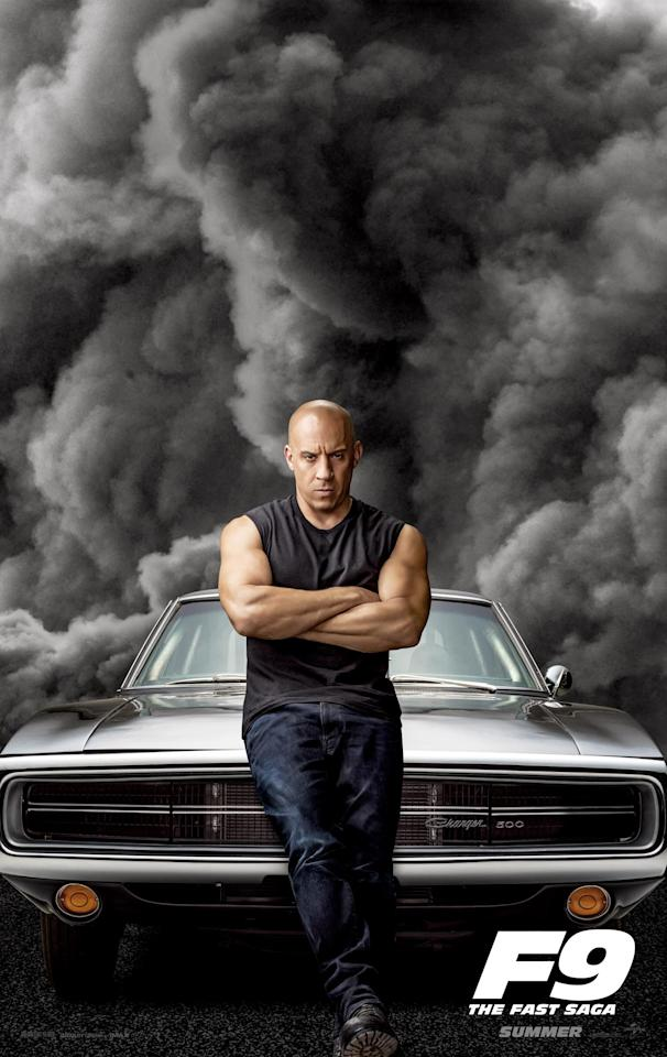 """That storm you see coming is <em>Fast & Furious 9</em>! In the lead up to Friday's trailer release, <a href=""""https://ew.com/movies/2020/01/28/fast-furious-9-teaser/"""" target=""""_blank"""">Vin Diesel previously dropped a teaser</a>, and now we have character posters for the family, which includes new addition John Cena. Click on to speed through the colorful art."""