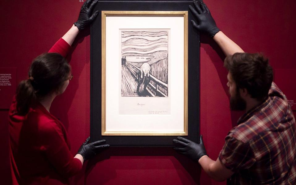 A print of The Scream, made from Munch's lithograph stone - Geoff Pugh