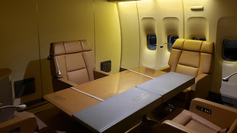 Office in the Japanese Air Force One Boeing 747 400