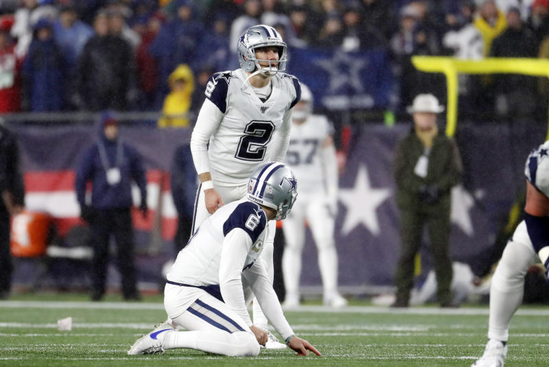 Dallas Cowboys place kicker Brett Maher (2) was released on Monday. (Photo by Fred Kfoury III/Icon Sportswire via Getty Images)