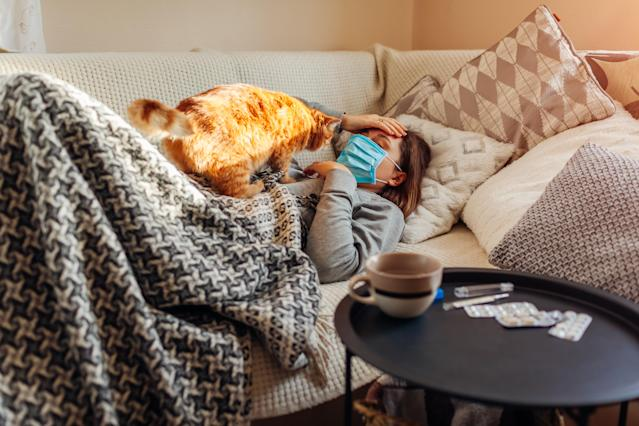 Anyone with the coronavirus' tell-tale fever or cough must self-isolate entirely at home for seven days. (Getty Images)