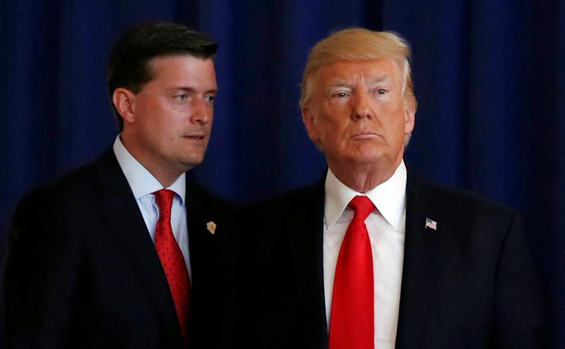 White House staff secretaryRob Porter and President Donald Trump appear together in 2017.