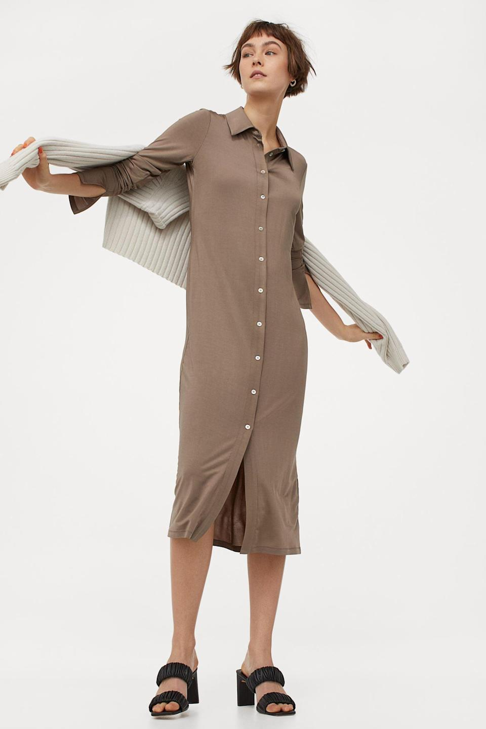 <p>This <span>Calf-length Dress</span> ($50) was made for easy days when brunch and Netflix are the only things on the calendar.</p>