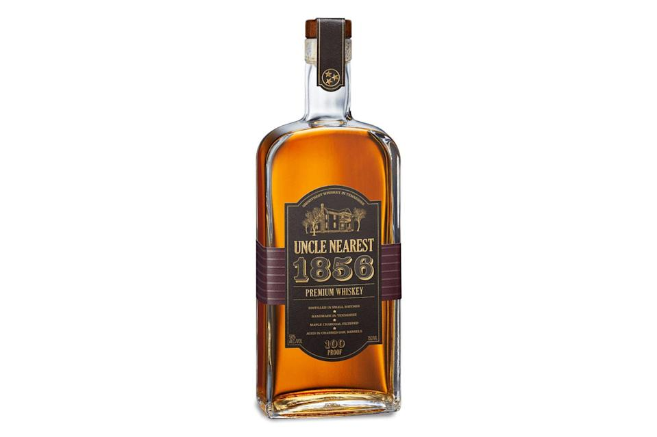 """$60, Drizly. <a href=""""https://drizly.com/liquor/whiskey/american-whiskey/uncle-nearest-1856-premium-whiskey/p85755"""" rel=""""nofollow noopener"""" target=""""_blank"""" data-ylk=""""slk:Get it now!"""" class=""""link rapid-noclick-resp"""">Get it now!</a>"""