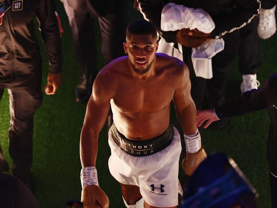 Anthony Joshua was dethroned as world heavyweight champion  (AFP via Getty Images)