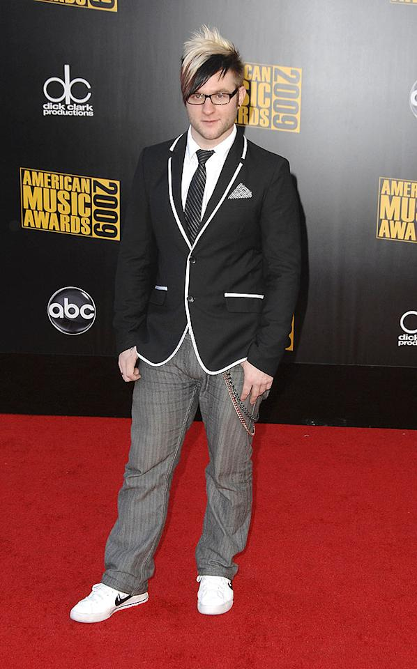 """Blake Lewis  Grade: D+  The beatboxer's outfit was average at best, but his skunk-like Kate Gosselin 'do was downright disastrous. Steve Granitz/<a href=""""http://www.wireimage.com"""" target=""""new"""">WireImage.com</a> - November 22, 2009"""