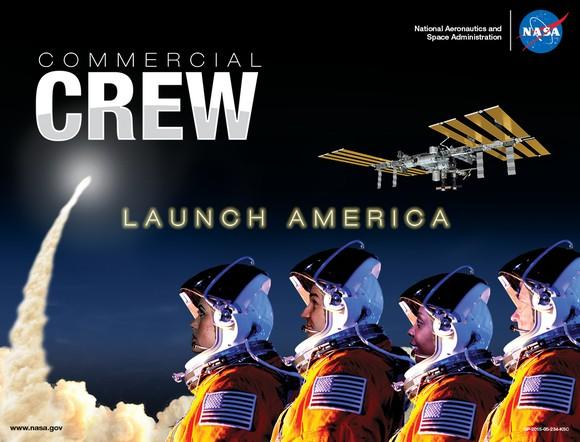 NASA poster advertising Commercial Crew missions
