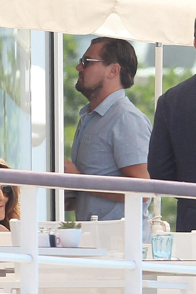 <p>Leo mingled with the other beautiful people at Hotel du Cap-Eden-Roc in 2016. (Photo: Riptidepix.com/ Splash News) </p>