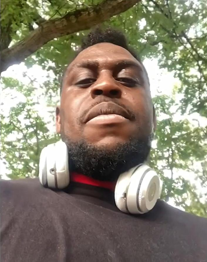 Bena Apreala says he started recording after U.S. Immigration and Customs Enforcement agents stopped him while he was jogging on VFW Parkway in West Roxbury, Mass. (Bena Apreala)