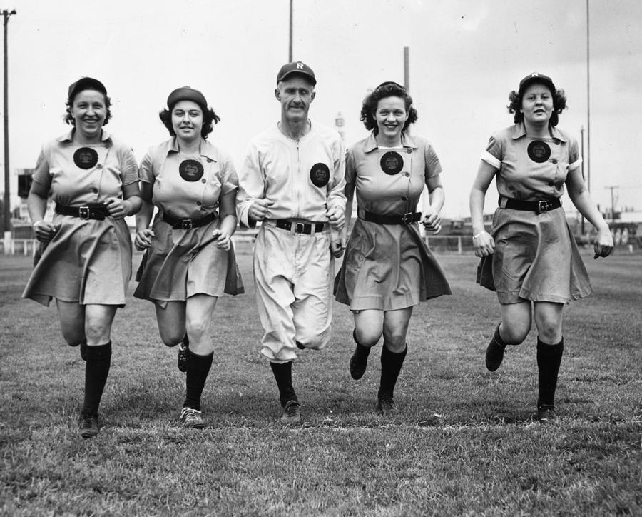 The Rockford Peaches, who played in the All-American Girls Baseball League from 1943 through 1954, won four championships.