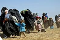 SDF spokesman Mustefa Bali said on Tuesday that 600 civilians had fled the combat zone overnight and the Syrian Observatory for Human Rights said another 350 made it out that day