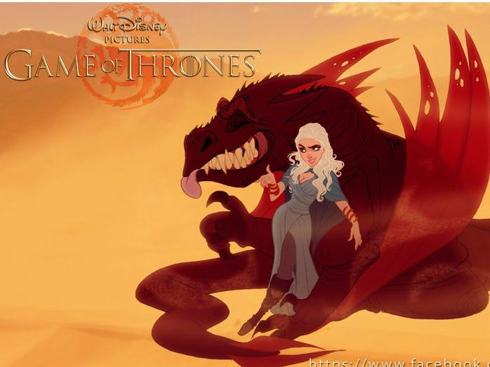 "Dany and Drogon. <p class=""copyright""><a href=""http://www.comboestudio.com.br/site/portfolio/serie-game-of-thrones"" rel=""nofollow noopener"" target=""_blank"" data-ylk=""slk:Courtesy of Combo Estudio"" class=""link rapid-noclick-resp"">Courtesy of Combo Estudio</a></p>"