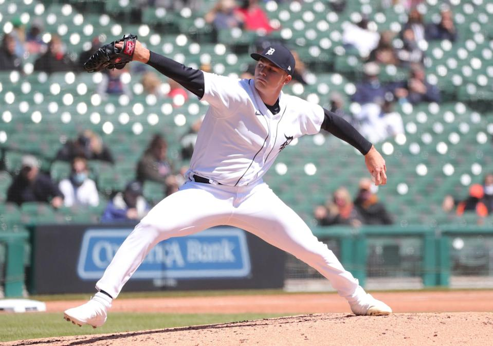 Tarik Skubal needed 61 pitches to get through 2 2/3 innings Sunday against the Royals, but 12 of them were swinging strikes.