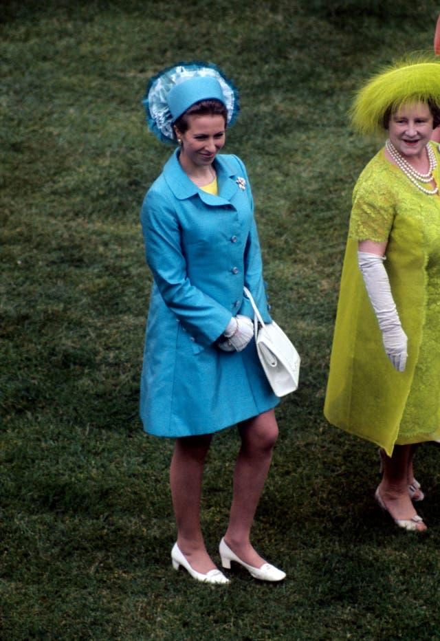 Princess Anne and the Queen Mother in 1969