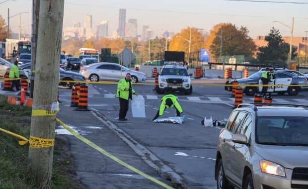 The city will test using speed bumps to reduce the speeds of drivers making left-hand turns in at least seven busy intersections. (Martin Trainor/CBC - image credit)